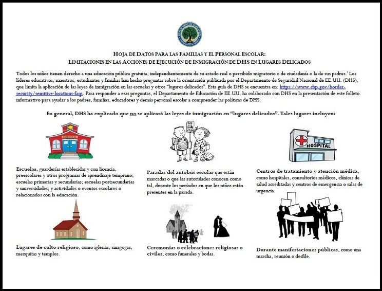 Us Departments Of Education And Health >> U S Department Of Education S Sensitive Locations Fact Sheet Now